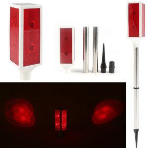 태양광 슬림 경광등(대형)/2단 LED 경고등 주의표시등