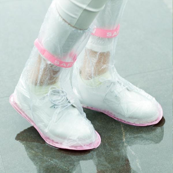 방수 신발커버 휴대용 비닐장화 레인부츠 장화 롱부츠