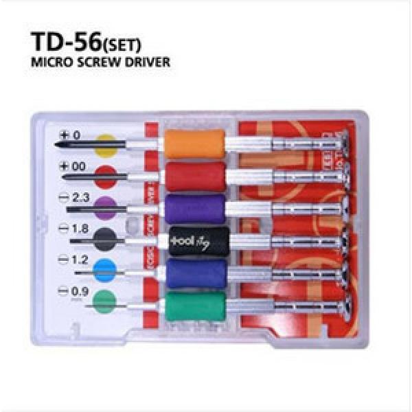 툴119/베셀/정밀드라이버세트/TD-56/시계드라이버세트/VESSEL/안경정밀기기작업용/일자/십자/조작드라이버/일제정품