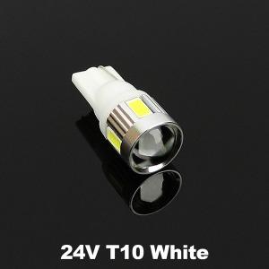 24V 하이파워 LED실내등 6발 T10 화이트/LED/전구