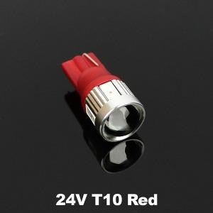 24V 하이파워 LED실내등 6발 T10 레드/LED/전구