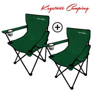 키스톤 캠핑 1+1 아웃도어 캠핑의자(2P) 접이식 체어