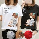 여성 GIRL 그래픽 반팔 티셔츠 여름 예쁜 디자인티셔츠