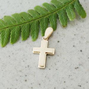 14K골드 이중B 십자가펜던트/십자가메달/십자가목걸이