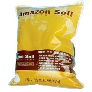 아마존 소일 블랙 2kg 수초전용바닥재
