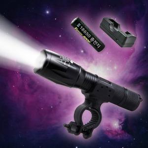 CREE L2 1200루멘 LED 충전식 후레쉬 자전거전조등