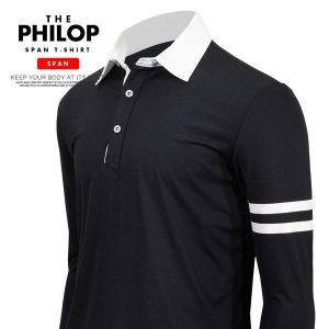 필롭 카라티셔츠 남자 스판 기능성티셔츠 긴팔티셔츠