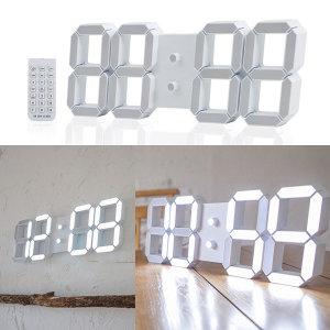 모모스 대형 38cm LED 벽시계 화이트 밝기자동인식