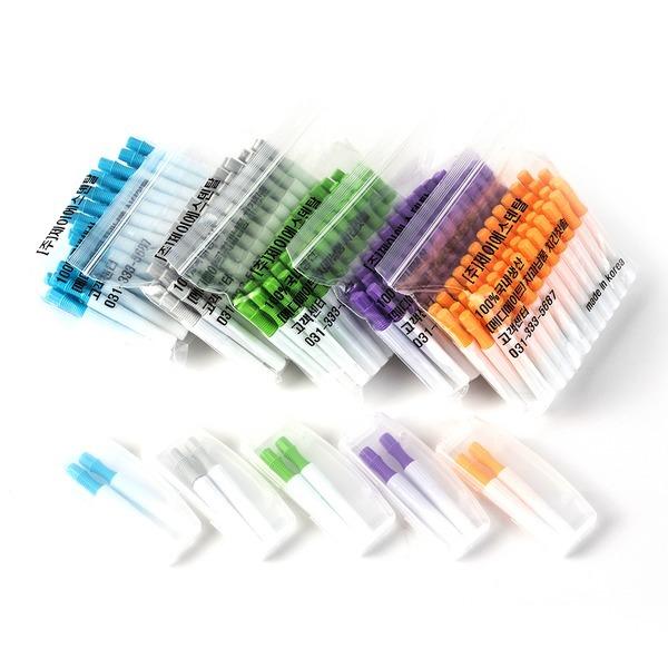 메디메이트 다덴 치간칫솔 i형L형50개+휴대용기 치실