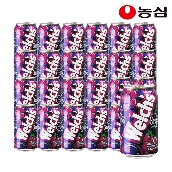 웰치스소다 포도 6캔X4팩 총24개 박스