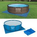 (58002)깔개396x396cm /수영장바닥보호/이물질유입방지