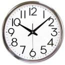 빅넘버35cm크롬 무소음벽시계 큰숫자벽시계 개업선물