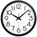 빅넘버35cm 블랙 무소음벽시계 큰숫자 벽시계