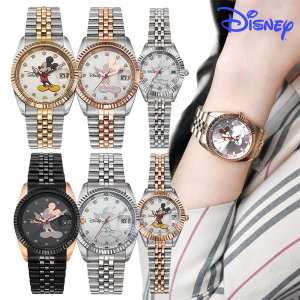 디즈니 미키마우스 남여 메탈밴드 패션 손목시계