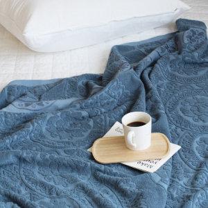 북유럽 패턴 타월이불150X200-블루-아카시아 무료배송