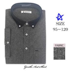 젠틀안트 남성 반팔셔츠 베이직 딥그레이 셔츠 DL-256