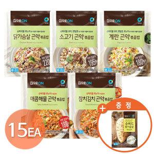 (현대Hmall) 청정원  곤약볶음밥 5종 15팩+(증정)수비드닭가슴살허브갈릭100g