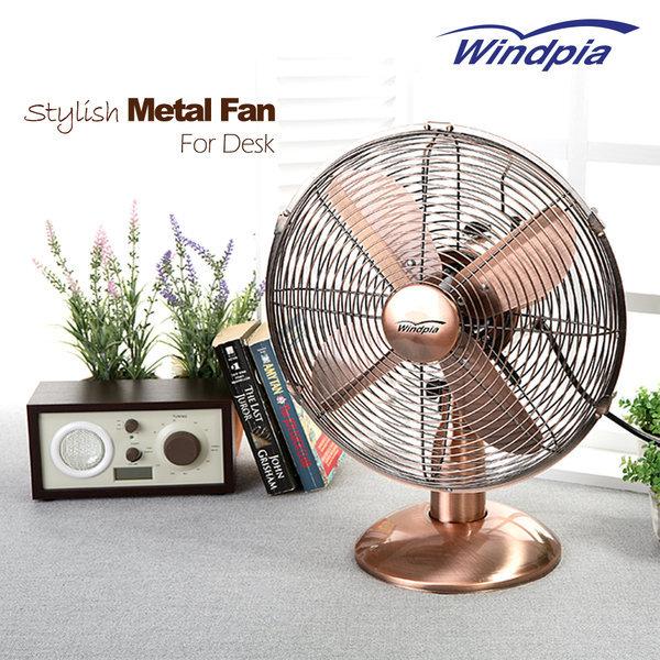 메탈선풍기 탁상용 디자인 선풍기 엔틱선풍기 1200골드