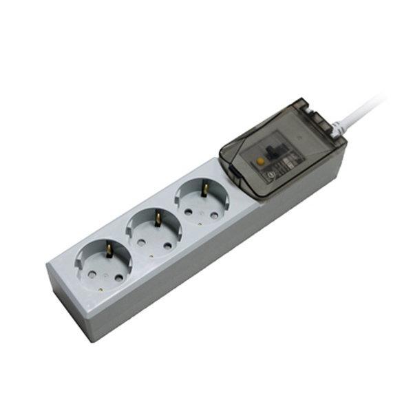 루넥스 누전 차단용 고용량 멀티탭 3구 5m 4000W