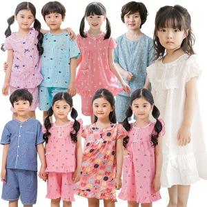 국내제작 여름 아동잠옷 세트/원피스잠옷/유아 파자마