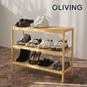 (현대Hmall) 올리빙 원목 벤치형신발장 3단 1000/신발정리대/화분정리대/진열대/선반