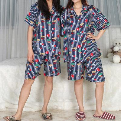 풍기 인견 100% 커플 잠옷 세트 반팔 스누피의하루
