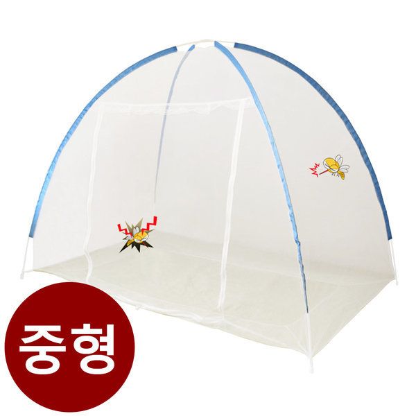 코매트 야광 원터치 모기장 방충텐트 침대모기장 중형