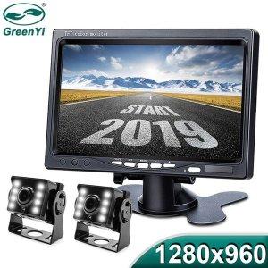 (해외) 1024x960 AHD MONITOR+2채널 AHD 전후방카메라