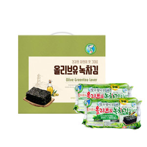 성경김 선물세트 올리브녹차 도시락김 9봉x2팩 총18봉