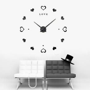 러브하트 붙이는시계 벽에붙이는시계 블랙 인테리어