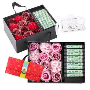 핑크 카네이션 용돈박스 어버이날 스승의날 꽃 선물