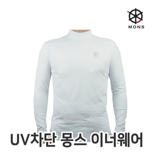 기능성 탁텔원단 스포츠 골프웨어 몽스 국산 화이트100