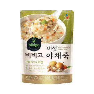 CJ 비비고 버섯야채죽 450g/죽/비비고죽/간편죽