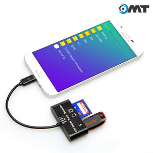 OMT 5핀 OTG 카드리더기 스마트폰 카메라 OCR-5POTG
