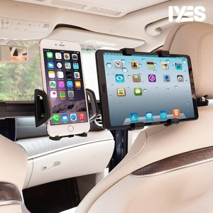 IYES 차량용 뒷좌석 핸드폰+태블릿 거치대 IY-5012