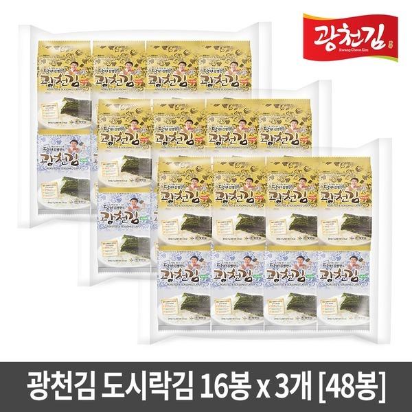 김병만의 광천김 재래+파래도시락김 48봉