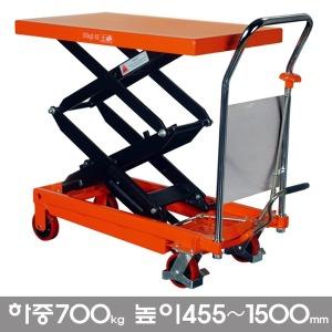 리프트 핸드카 70D/하중700kg 유압 테이블리프트 대차