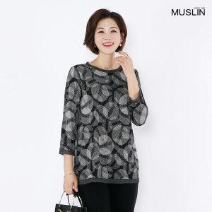 엄마옷 빗살 도트 티셔츠 TS8080621