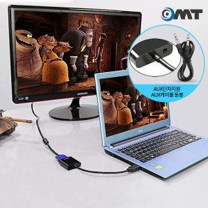 RGB to HDMI VGA 변환 젠더 오디오지원 케이블 블랙