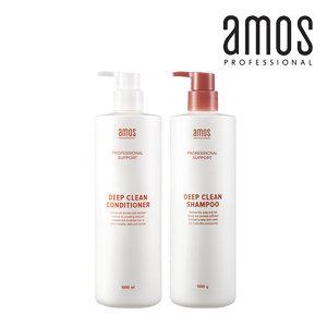 amos 아모스01 딥클린 밸런싱 샴푸1000g 염색펌모발용