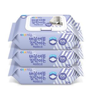 코디퓨올라 욕실청소포 캡형 30매 3팩