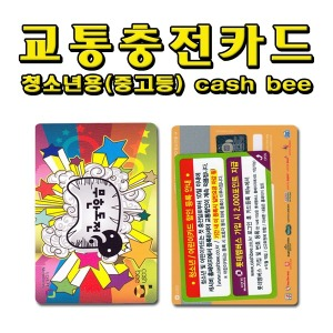 No30/무한도전 청소년 충전식 교통카드 캐시비카드