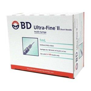 BD 울트라파인2 인슐린 주사기 1mL (100개) 일회용