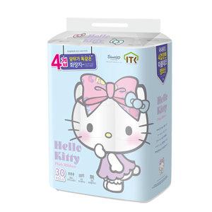 헬로키티 핑크리본 4겹 30롤x2팩 60롤 사은품 화장지 p