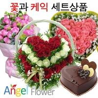 초특가 꽃+케익세트 생화 생일선물 전국당일꽃배달