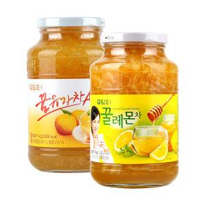 담터 꿀유자차A 1kg+ 꿀레몬차1kg