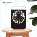 무선 휴대용 LED 네모선풍기(블랙)/미니 탁상용선풍기