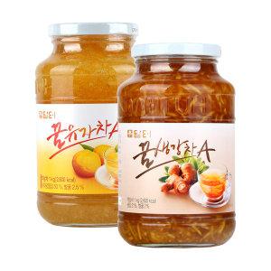 담터 꿀유자차A 1kg+ 꿀생강차A1kg