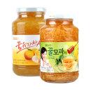 담터 꿀유자차A 1kg+ 꿀모과차1kg/