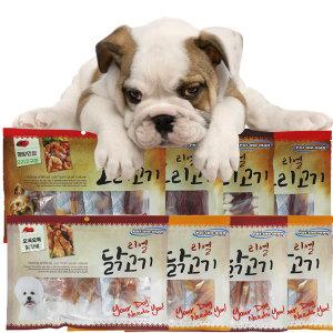 대용량 강아지간식 300g 사사미 껌 리얼닭고기